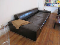 Beautiful Leather Sofa, dark brown, 4 seater, very good condition