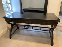 Large Solid Wood Black Lacquered Desk **RRP £900** Local Delivery Available, Great For WFT