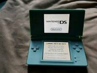 Nintendo d's live, light blue in colour