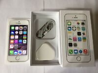 iPhone 5S UNLOCKED so will work on any network - huge 64 GB boxed