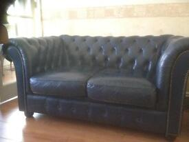 2 Seater Leather Chesterfield REDUCED New furniture being delivered , needs gone asap