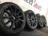 NEW GENUINE LEXUS 17'' ALLOY WHEELS & TYRES - 5 X 114.3 - 205 55 17 - CRSYSTAL BLACK - Wheel Smart