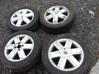 4 alloy wheels and tyres Renault megane, Clio 4 stud