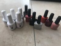 Gel nail lamp and assorted gels