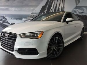 2016 Audi S3 2.0T TECHNIK BLACK OPTICS 19'' CALIPER ROUGE