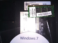 Windows 7 Pro/professional license with re-install dvd and scrap laptop