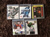 X5 Playstation 3 games