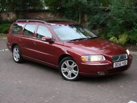 EXCELLENT EXAMPLE!! 2007 VOLVO V70 2.4 SE 170 BHP 5dr AUTO ESTATE 1 YEAR MOT, FULL LEATHER, WARRANTY