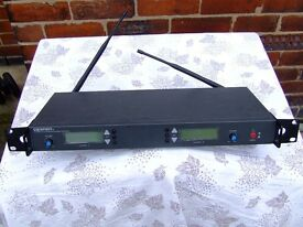 U-218 UHF Synthesised Dual Channel Spirit Diversity Receiver - untested.