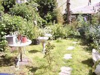 1 bed lower ground floor flat, own garden, in kentish town