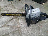"""McCulloch 18"""" petrol chainsaw"""