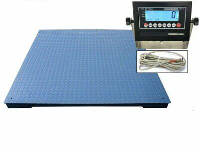 Heavy Duty Industrial Floor Scale 7 X 7 84 10000 Lbs X 1 Lb Lcd Display