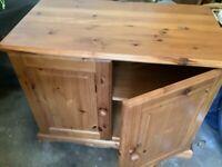 Pine storage cupboard