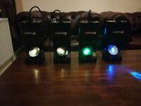 4 x Beamz wildflower led gobo scanner lights 20W led lights disco lights £40 each or all 4 for £120