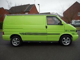 Volkswagen t4 swb 2001 finished in lime green with black bonnet and roof,Captain seats,Alloys,