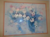 Large framed watercolour print