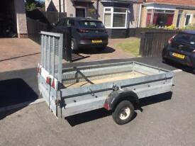 Galvanised drop down trailer (ideal for motorbikes, quads etc)
