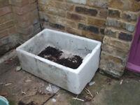 Old ceramic sink - ideal for planting