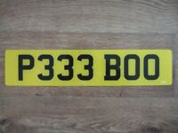 PERSONAL NUMBER PLATE FOR SALE P333 BOO £495 PLUS TRANSFER FEE OF £80