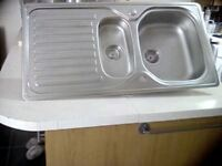 FRANKE stainless steel 1 1/2 bowl sink