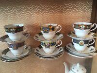 Royal standard 6 piece tea set - Theme Bonnie Scotland