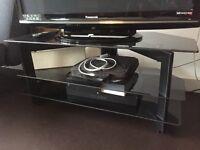 3 Tier TV Stand (Black Glass)