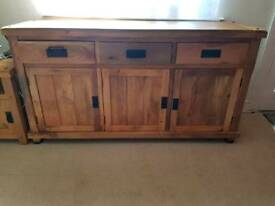 Sideboard, solid Mango wood, oak furniture land