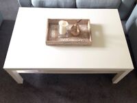 White Coffee table - Ikea LACK - only bought 8 months ago - looks brand-new/ no scratches