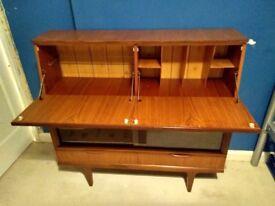 Retro Bureau / Display Cabinet