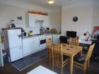 Spacious 1 bedroomed flat above commercial premises. Good sized bright lounge with open plan fitted