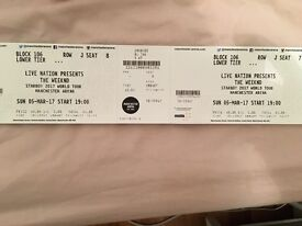 The Weekend Starboy Concert Tickets x 2 Seeated (REPOST)