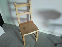 Used IKEA IVAR chair, pine wood