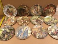 """Wedgwood Danbury """"Wind in the Willows"""" Collectable Plates. Complete Collection."""