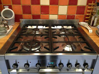 Smeg stainless steel A42 dual fuel double oven cooker