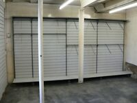 Shop Free Standing Slatwall Unit 14ft long