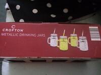 Metallic drinking jars