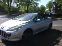 PEUGEOT 307CC SEMI/AUTO 37600 MILES LOVELY CAR £2750, OVNO REDUCED BY £550 STILL FOR SALE GLASGOW