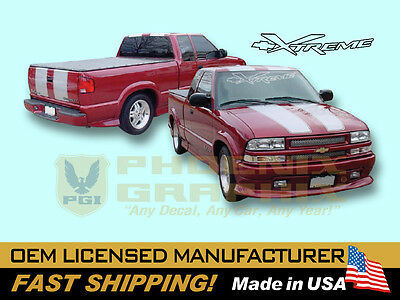 2002 2003 Chevrolet Truck S10 Xtreme Extreme Decals & Stripes Kit S10 Xtreme Truck