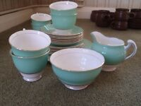 Colclough Harlequin ( Ballet - Green ) Tea Service