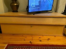 Ikea beech TV unit with storage