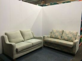 Two Duck Egg Blue Multi York Arundel Two Seater Sofas