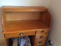 Wooden desk, second hand, bureau-style - £20 must go by Sunday from Rochester, Medway