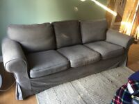 Fully machine washable (all covers)- grey 3 seater sofa