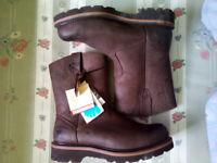 Hemran Survivor Steel Toe Cap Genuine Leather Work Boots Size 11