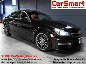 2013 Mercedes-Benz C-Class C63 AMG, P31 Performance Pkg, 19 Allo