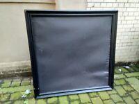 Large black solid wood picture frame 100cm squared central bargain