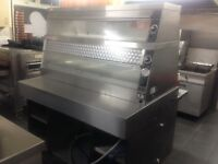 Henny Penny gas fryer, hcw5 warmer with table and breading table