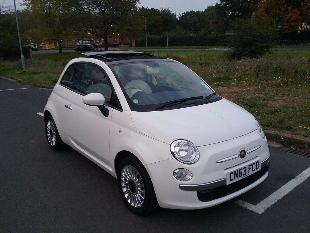 2013 Fiat 500 Lounge Only 19k Miles Fsh Red Cream Interior 126 Alternator Wiring Diagram Panoramic Sliding Roof Like