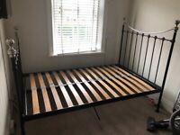 Feather & Black small double (queen) sized bed frame.