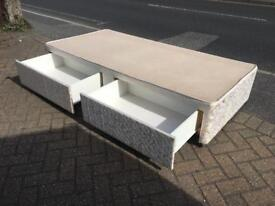 Single divan bed base with drawers-£40 delivered